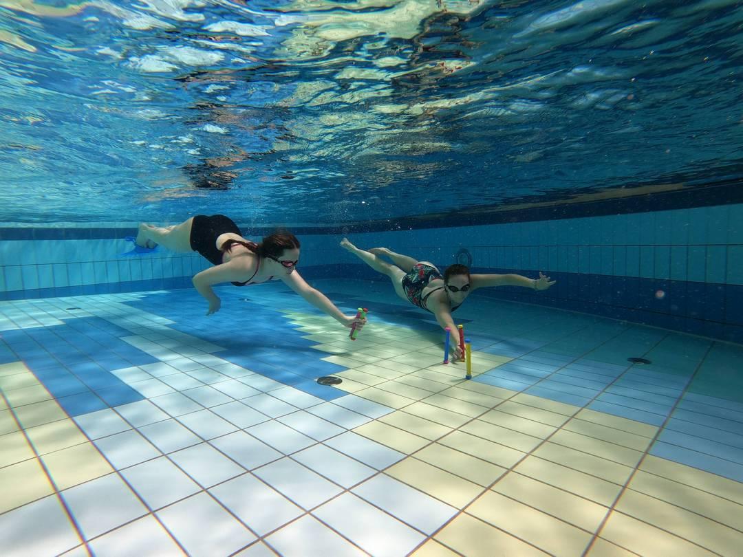 nauka pływania w syreniej płetwie, syrening